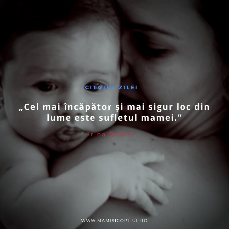 Cel mai incapator si mai sigur loc din lume este sufletul mamei