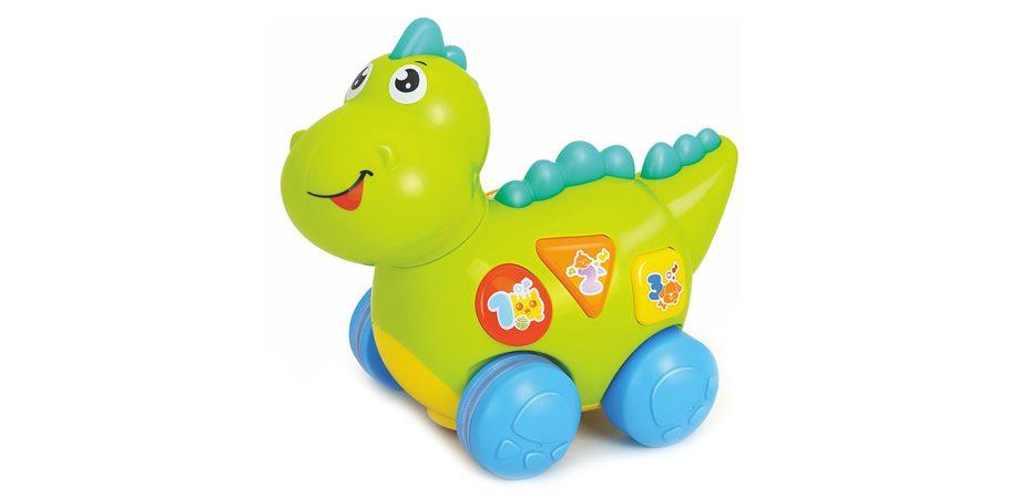 Dinozaurul vesel Hola Toys, cu sunete si lumini