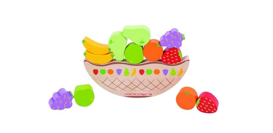 Joc de echilibru - Balanta fructelor BigJigs, din lemn
