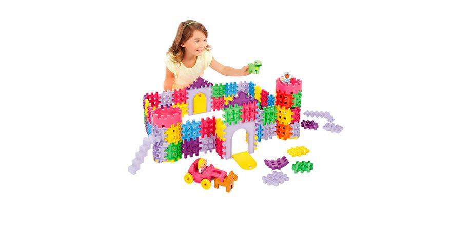 Set 80 blocuri de constructie Castel Little Tikes