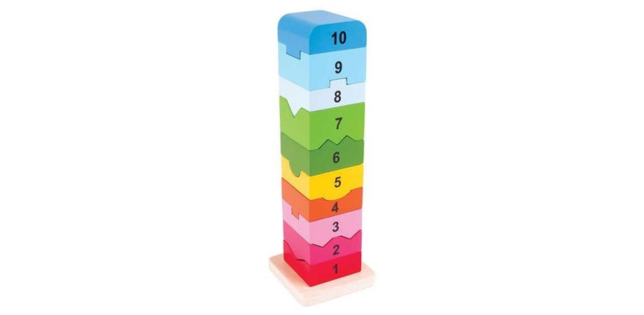 Turnulet din lemn cu numere BigJigs