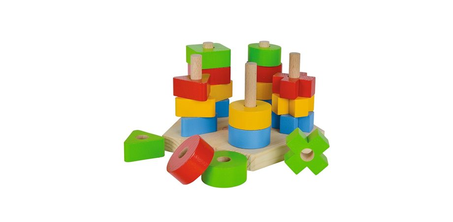 Jucarie lemn Eichhorn Stacking Toy