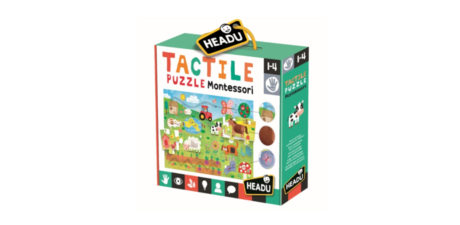 Montessori Puzzle Tactil Headu