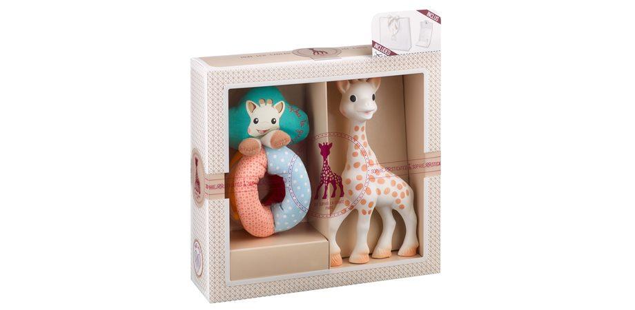 Set Sophiesticat girafa Sophie si zornaitoare cu bile
