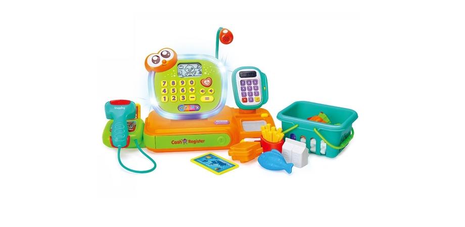 Prima mea casa de marcat Hola Toys, cu lumini si sunete