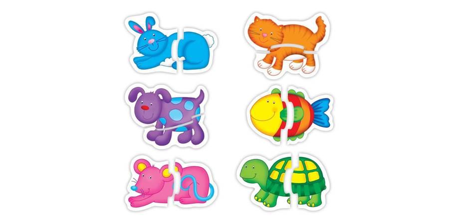 Baby Puzzle Animale de companie Galt, 2 piese, 18 luni+