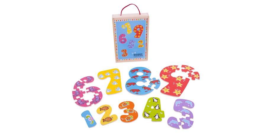 Puzzle-ul cifrelor 1 - 9 BigJigs, 3 ani+